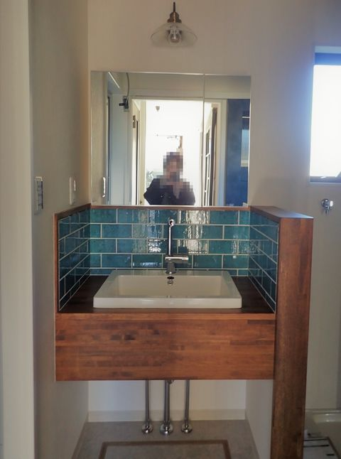 造作洗面台 鏡 収納