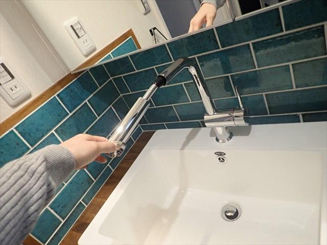 造作洗面台 水栓