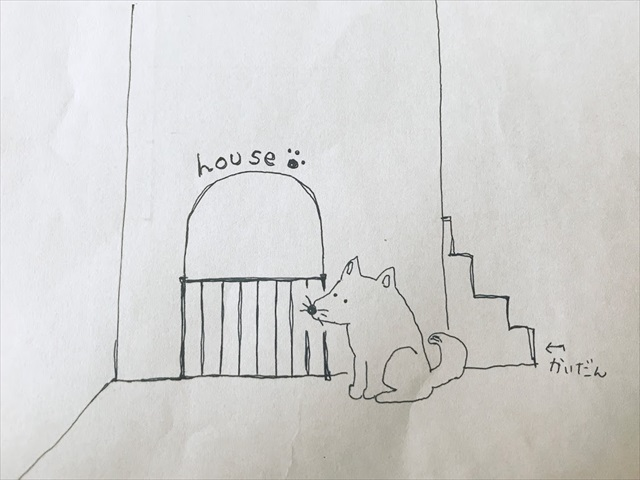 階段下 犬小屋