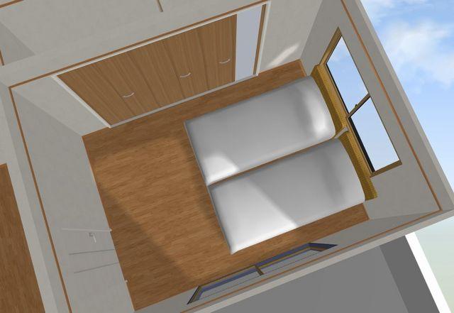 寝室 6畳 ベッド