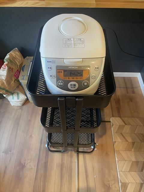 キッチン ワゴン 炊飯器
